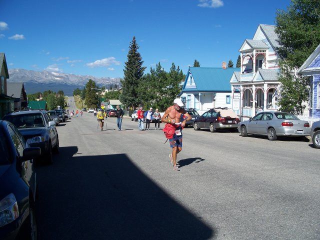 Matt Mahoney  on 6th Street nearing the finish line : Sunday August 22, 2010