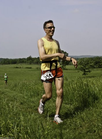 Mark Nowotny enjoying his Kettle 100 Kilometer Run : Saturday June 4, 2011