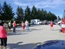 Pre-race gathering and ceremonies of Hoosier Burn Camp 5K : Saturday September 28, 2013