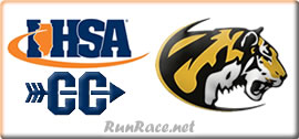 [logo: IHSA 2A Boys and Girls XC Regional]