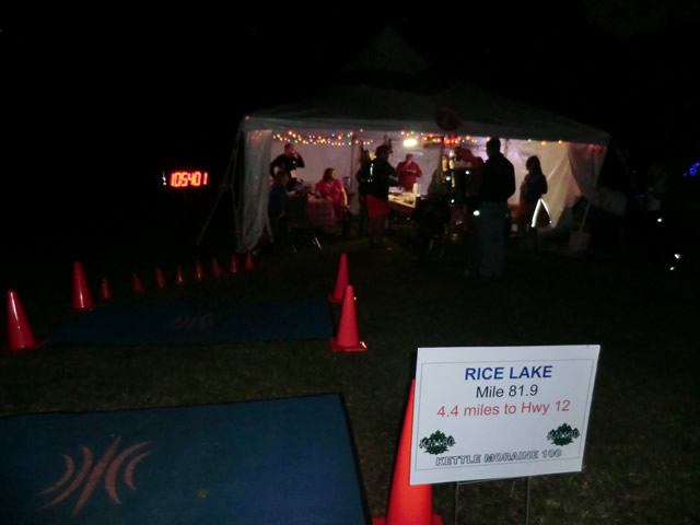 Saturday June 1st - Rice Lake Aid Station: 81.9 Miles