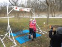 Action at Palos Park Woods-North Finish Line
