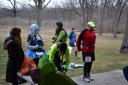 Pre-race Gathering at Palos Park Woods-North : Laurel Childress