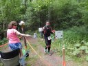 Runners Navigate the New Intrsection at Hwy ZZ Aid Station : Saturday June 7th