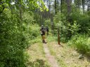 Single-track of the Ice Age Trail just South of Hwy ZZ Aid Station : Saturday June 7th