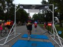 Chicago Full Moon Run action near the finish line