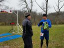 50-Km Veteran, Mike Glennon at the Finish Line of Devonian Fall : Saturday November 15, 2014