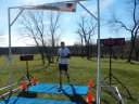 Danny Bulster of Berwyn finishes his Permian Fall 25-Km