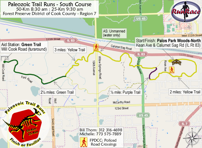 [racecourse map: Paleozoic Trail Runs - Cambrian Fall]