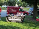 Dick Pond shoemobile is 'in the house' : Race Gathering