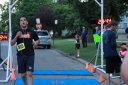 Completely despekled of mud... Jake Traunfeld finishes his Chicago Full Moon 5-Km