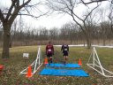 Dale Leonard (#297) and Tony Schirmang (308) complete the first lap of Cambrian Spring 50-Km