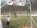 Action at Palos Park Woods-North Aid Station Finish Line