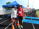 RD, Robert Wehner congratulates Jim Simpson after his Distance Division Marathon!